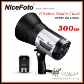 NiceFoto N-Flash 300 300Ws HSS 1/8000s Wireless Studio Strobe Flash Light Bowens Mount Built-in Battery